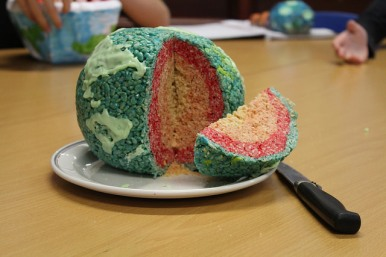 S2 pupils were challenged to think of a way to model the layers of the earth.
