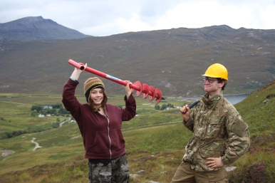 Advanced Higher soils fieldwork at Inchnadamph